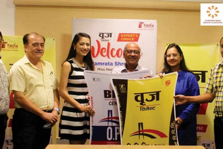 """Brij Cement in Miss Nepal Namrata Shrestha's """"Beauty With a Purpose"""" project"""