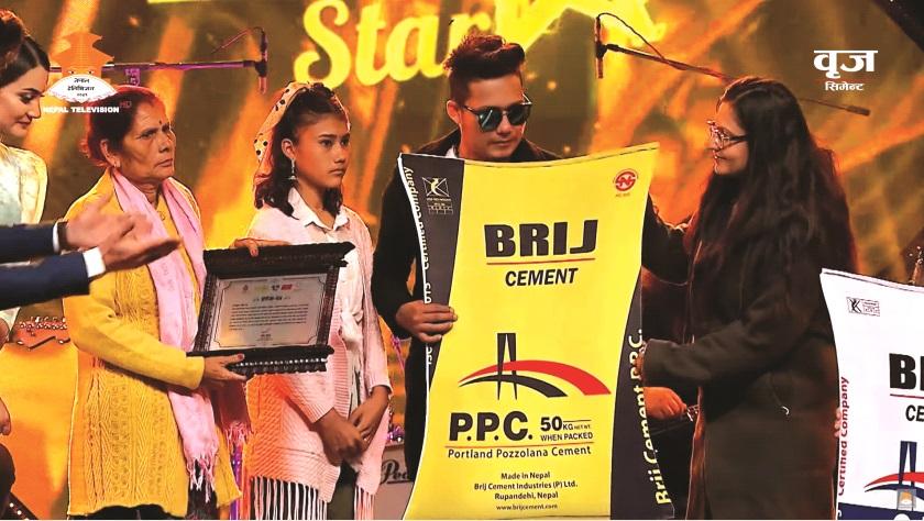 Cement donation to Nepal Star Top 6 Finalists Sidhhant Khadka